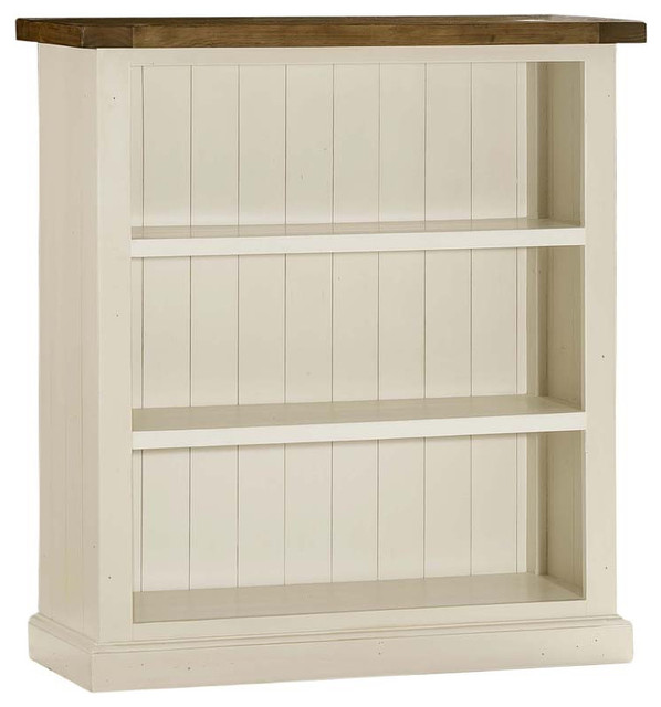 hillsdale tuscan retreat 3 shelf bookcase in country white. Black Bedroom Furniture Sets. Home Design Ideas
