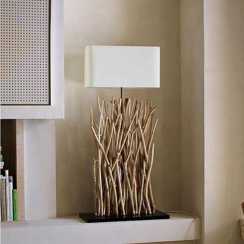 Driftwood floor lamp west elm mozeypictures Images