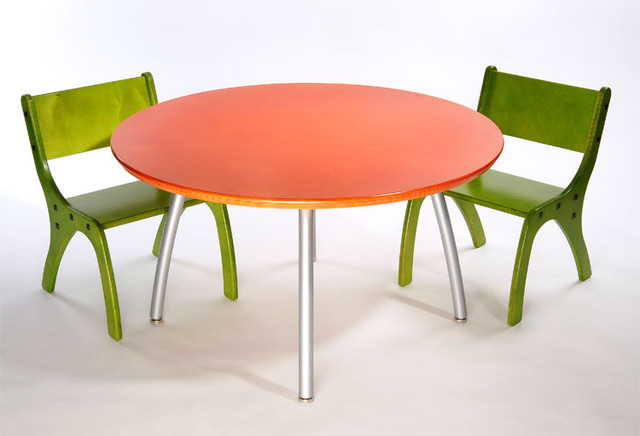 a5a1cd6f43 Knu - Knu Kids Table & Two Chair Set - Modern - Kids Tables And Chairs - by  2Modern