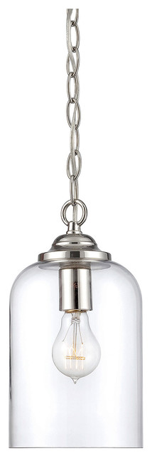 Cloche pendant light satin nickel with silver mercury glass cloche pendant light polished nickel with clear glass transitional pendant lighting mozeypictures Image collections