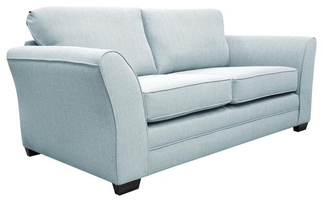 Westbridge Classic 2-Seater High Back Sofa, Light Blue