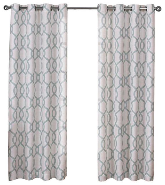 Deneuve Drapery Curtain Panels with Grommets