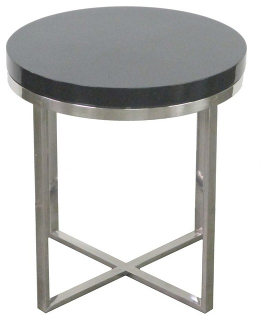 Magnificent metal wood table eclectic nightstands and for Wood and metal bedside table