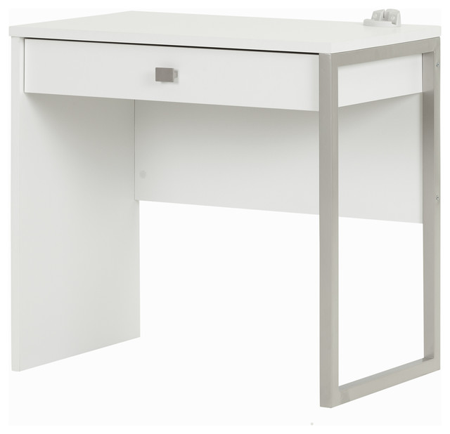 Attrayant South Shore Interface Desk With 1 Drawer, Pure White