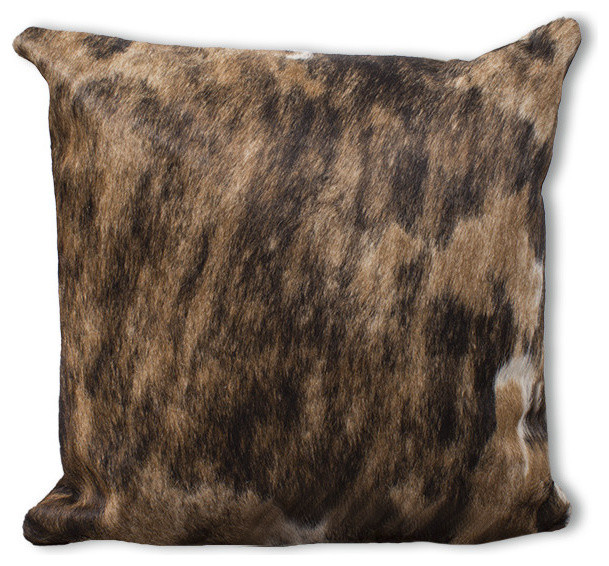 Caramel Brown Cowhide Large Pillow Case Decorative Pillows By Extraordinary Rodeo Home Decorative Pillows
