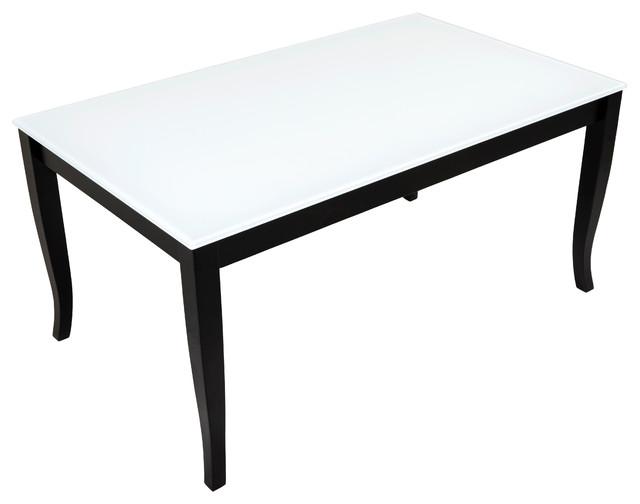 Finezja Gl Top Coffee Table White Black Legs