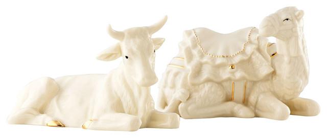 Belleek Nativity Manger Ox And Camel.