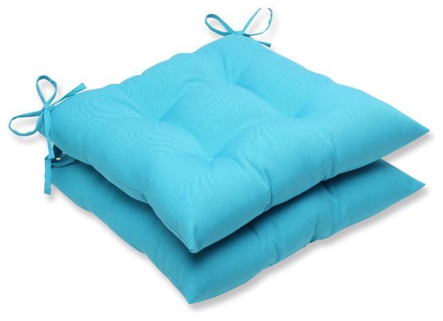 Veranda Turquoise Wrought Iron Seat Cushion, Set Of 2