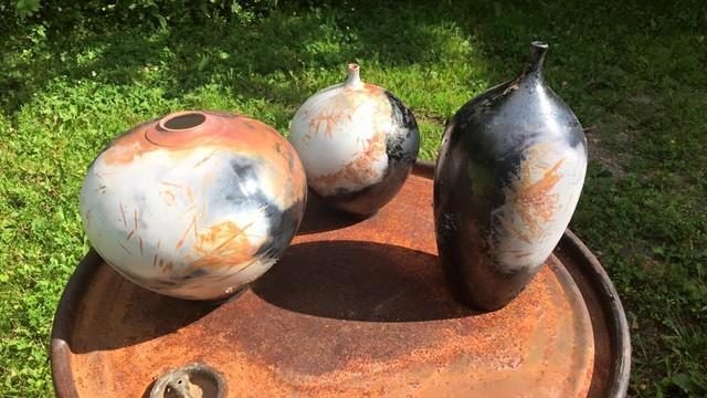 2016 Raku and Barrel fired works