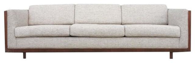 Mid Century Wood Encased Floating Sofa 4 500 Est Retail 2 750 On Chairish