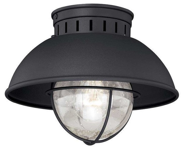 Stupendous Harwich 1 Light Outdoor Ceiling Light In Textured Black Download Free Architecture Designs Intelgarnamadebymaigaardcom