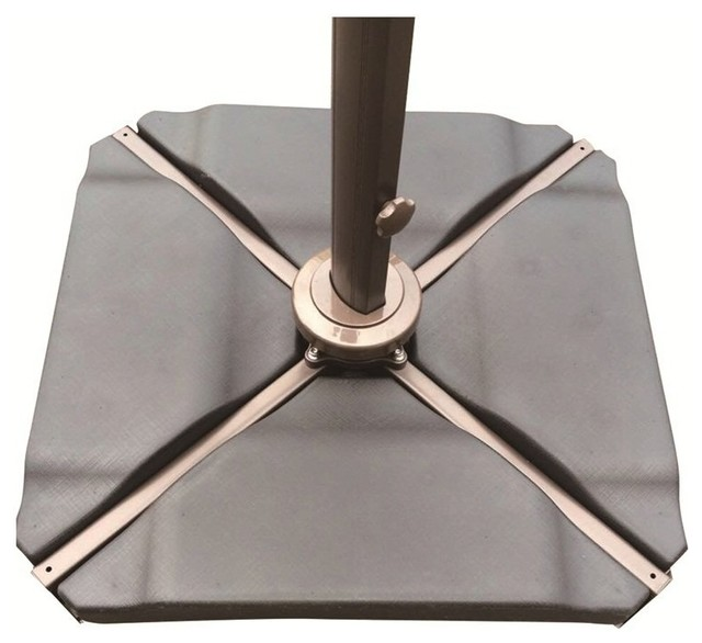 Abba Patio Plastic Umbrella Base Plate Set Black Contemporary Outdoor Accessories