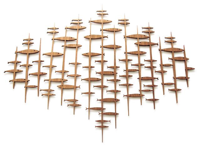 frederick arndt artworks llc large mid century modern fish sculpture wall sculptures houzz. Black Bedroom Furniture Sets. Home Design Ideas