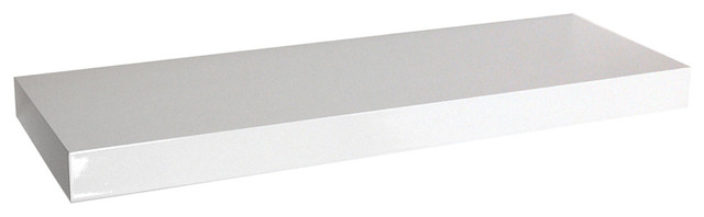 Chicago Wall Mounted Floating Chunky Shelf, White, 100 cm