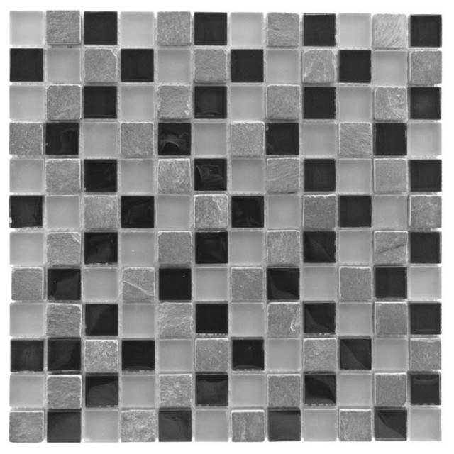 Miseno Earth Glass Visual Wall Tile Sheet Chip Size 1 Quot X1