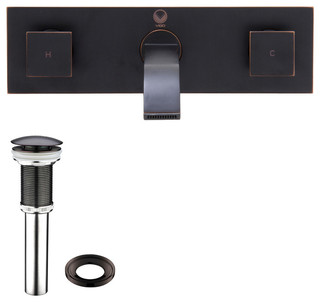 Titus Finish Dual Lever Wall Mount Faucet Contemporary