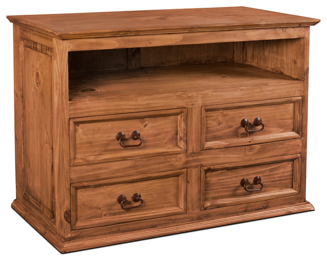 abb548771079 Rustic Solid Wood 4-Drawer Media Chest