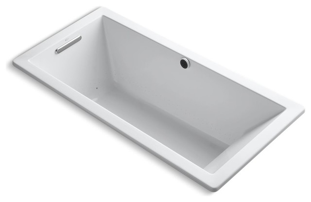 "Underscore 66""x32"" Drop-In Bubblemassage Air Bath, White."