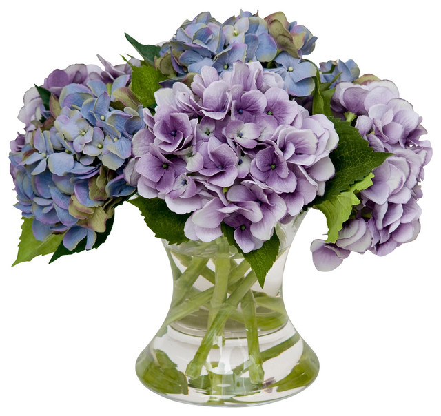 Mixed hydrangea traditional artificial flower arrangements by mixed hydrangea mightylinksfo