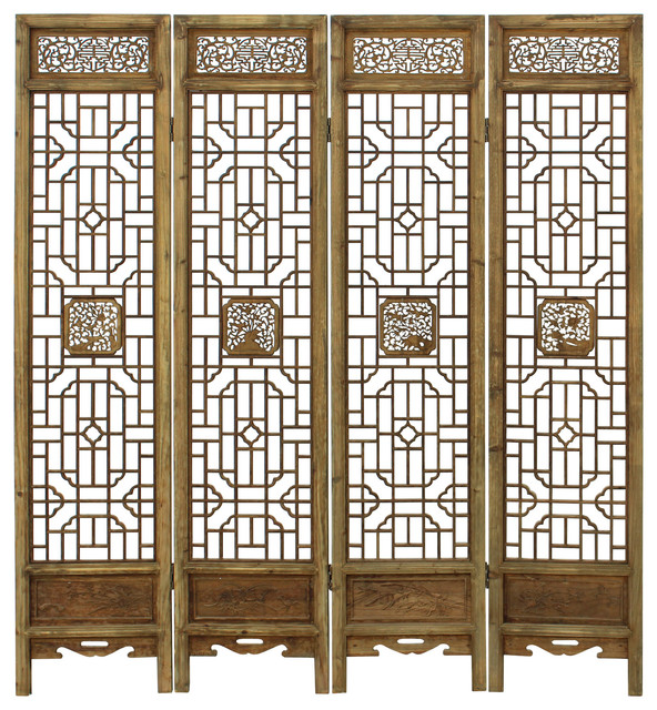 Carving Window Pattern Wood Panel Floor