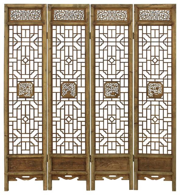 Carving Window Pattern Wood Panel Floor