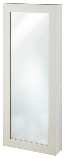 Space Saver Jewelry Armoire, White.