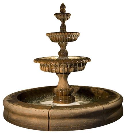 Als Garden Art Pioggia Fountain With Fiore Pond