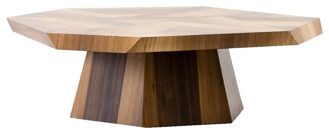 Brooklyn Organic Yukas Wood Octagon Coffee Table 53 Contemporary Coffee Tables By Zin Home