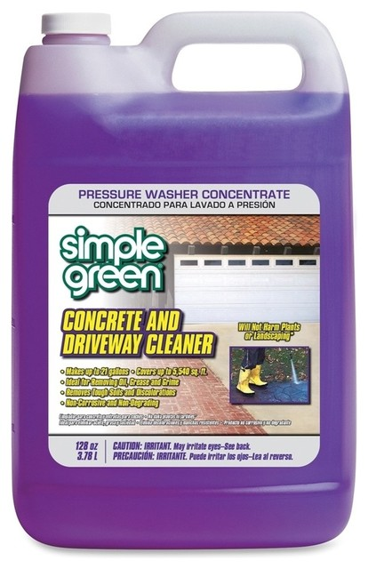 Simple green simple green concrete driveway cleaner for Cement cleaning products