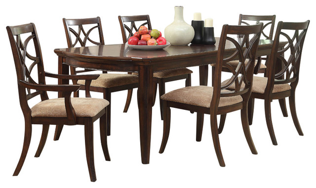 Homelegance Keegan 8-Piece Dining Room Set with Buffet in Brown ...
