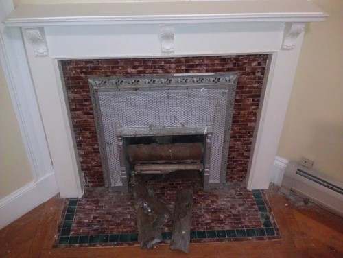 I own a very old home and I have two gas fireplaces on the first floor. I hate the tile surround and the Mantle is too plain. I don
