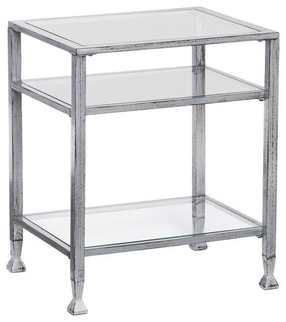 Symon Metal/glass End Table.
