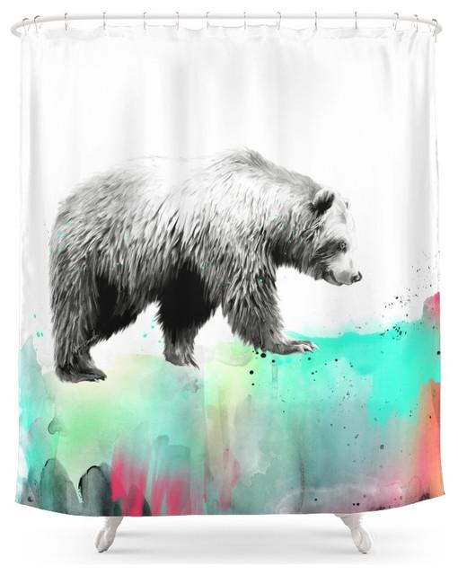 1 bear shower curtain