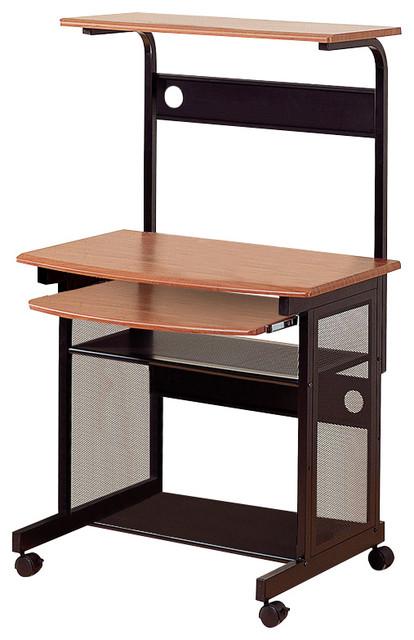 Coaster Computer Workstation Walnut And Black Finish 7121