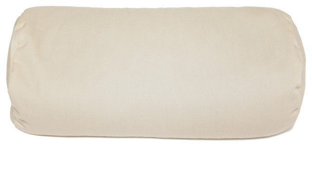 buckwheat pillow neck roll pillow tan 37 x 15 x 15 cm