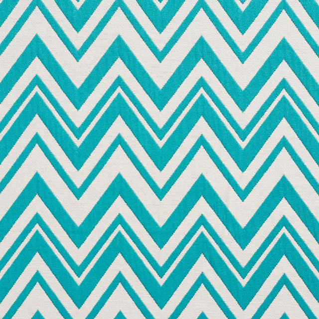 Teal and White Chevron Zig-Zag Upholstery Fabric By The Yard ...