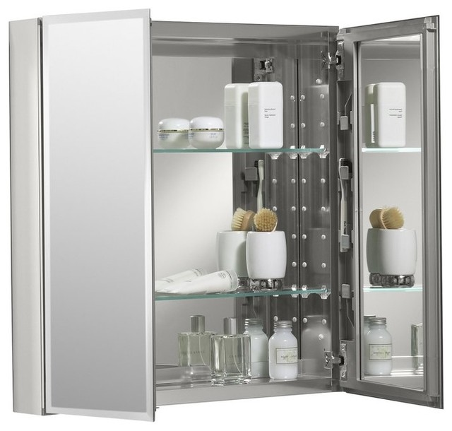 Bathroom Surface Mount Double Door Medicine Cabinet.