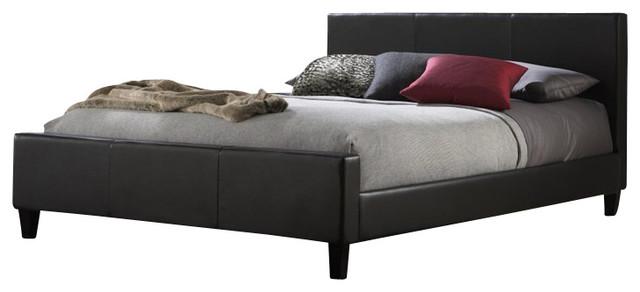Fashion Bed Euro Platform Bed in Black-King size