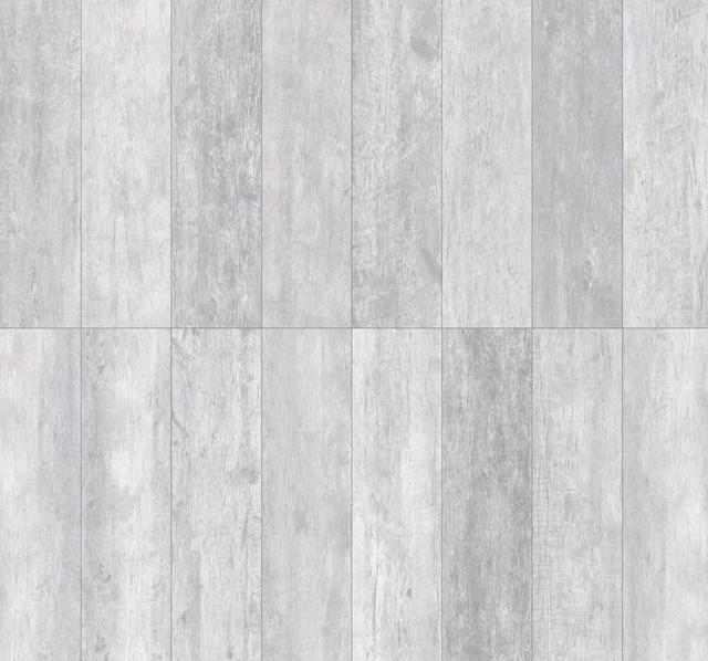 "Rustic Wood Look Porcelain Tile, 5""x40"", Set Of 6, Bianco."