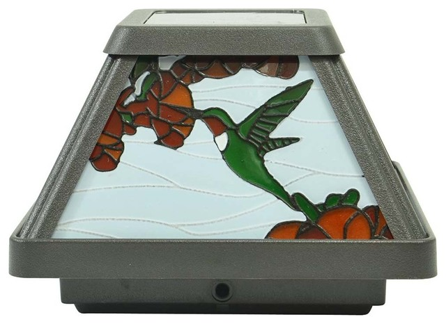 Moonrays Southwire Hummingbird Solar Led Stained Glass
