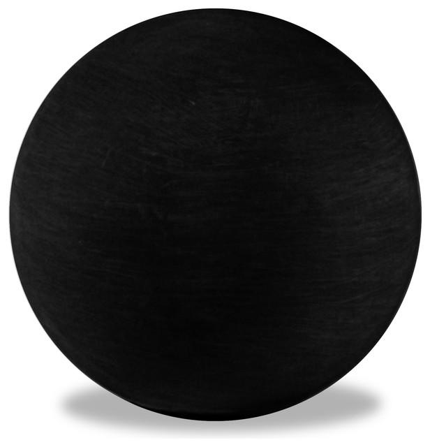 Garden Sphere, Black, 12x12x12