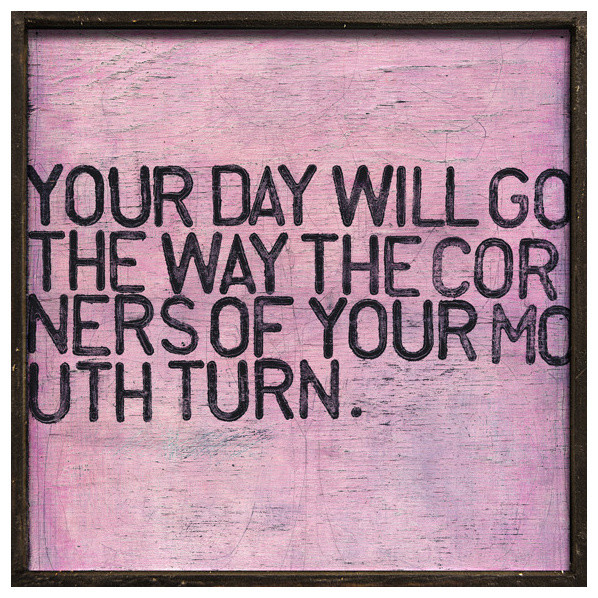 Your Day Will Go' Pink Distressed Reclaimed Wood Wall Art - Small
