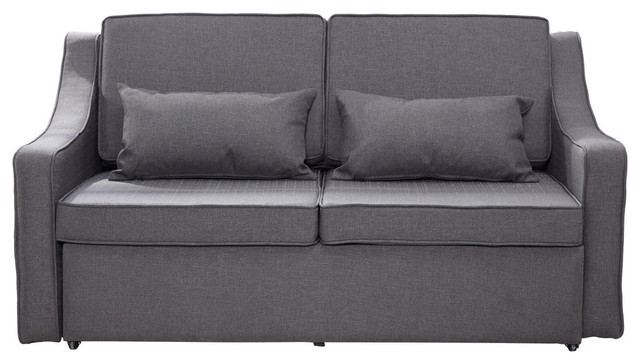 Homcom Linen Lounge Sleeper Sofa Teachfamilies Org
