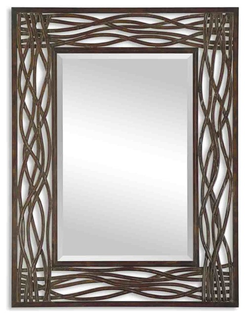 Uttermost Dorigrass Brown Metal Mirror.