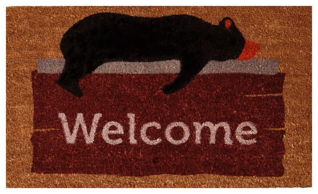 Lazy Bear Welcome Doormat.