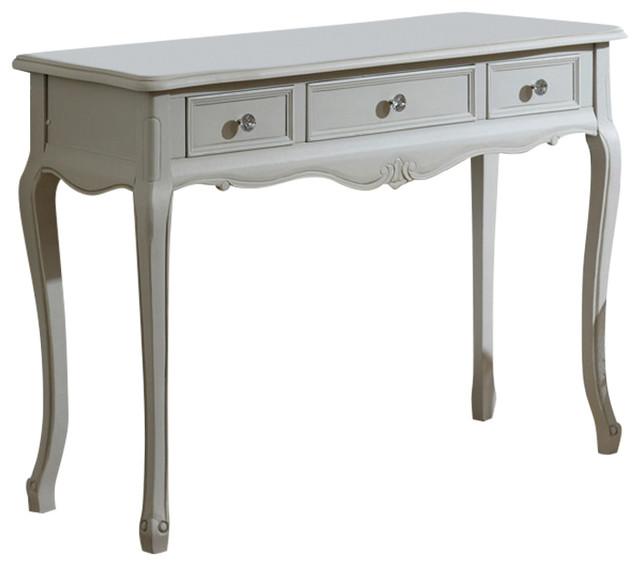 French Grey Vintage 3 Drawer Dressing Table Elise Range