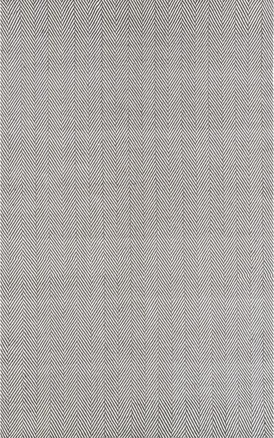 Taylor Herringbone Flat Woven Rug, Gray, 8&x27;x10&x27;.