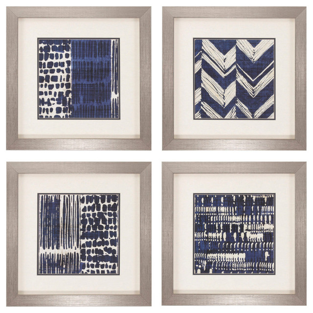 Indigo Batik Print, Set of 4 by PROPAC IMAGES