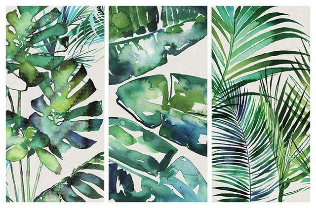 """Botanical Series"" Canvas Triptych by Summer Thornton, 150x100 cm"