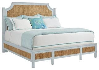 Stanley Coastal Living Resort Water Meadow Woven King Panel Bed